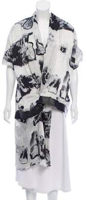 Chalayan Silk Scarf Neck Top Tunic