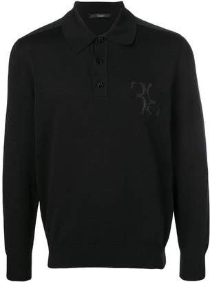 Billionaire snakeskin shoulder band polo shirt