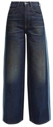 MM6 MAISON MARGIELA Side Stripe Wide Leg Jeans - Womens - Denim