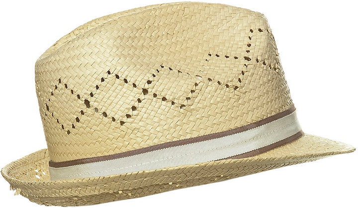 Topshop Diamond Straw Trilby Hat