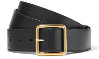 Alexander McQueen Leather Waist Belt - Black