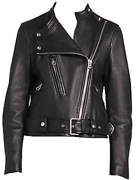 Acne Studios Women's Lewis Leather Moto Jacket