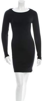 Alice + Olivia Zip-Accented Jersey Dress