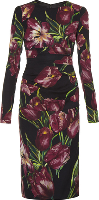 DOLCE & GABBANA Tulip-print ruched dress $2,745 thestylecure.com