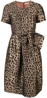 P.A.R.O.S.H. leopard print flared dress