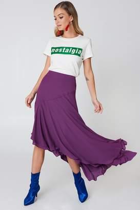 Na Kd Boho Asymmetric Block Skirt Deep Purple