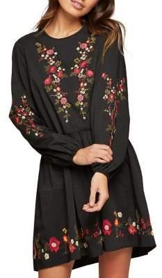 Miss Selfridge Embroidered Smock Mini Dress