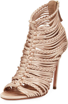 Aquazzura Goddess Strappy Satin Sandals