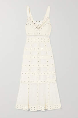 Alexander McQueen Embellished Stretch-knit Gown - Ivory