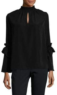 Supply & Demand Ruched Highneck Top