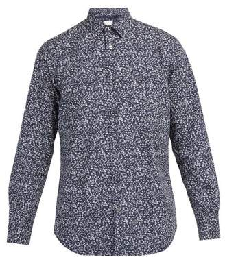 Paul Smith Floral Print Cotton Shirt - Mens - Navy Multi