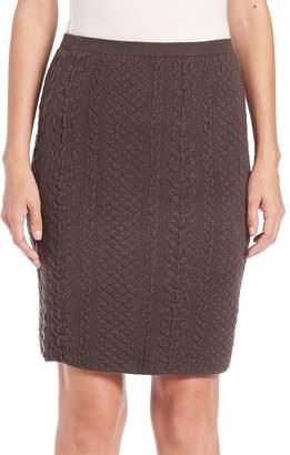Natori Women's Textured Knit Pencil Skirt