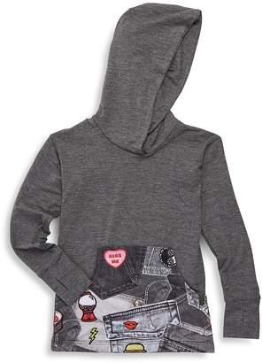 Zara Terez Girl's Pocket Patch Hooded Sweatshirt