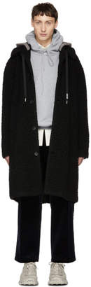 MSGM Black Teddy Coat