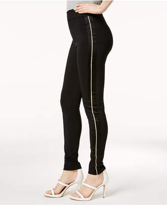 INC International Concepts I.n.c. Curvy Satin-Contrast Skinny Pants, Created for Macy's
