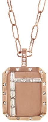 story. My Extra Large Diamond Square Necklace - Rose Gold