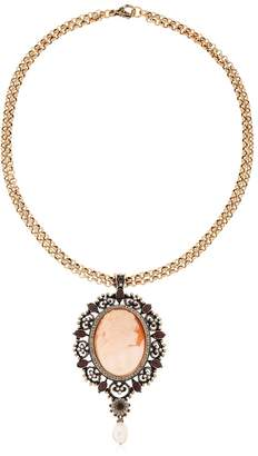 Alcozer & J Cameo Pearl Necklace