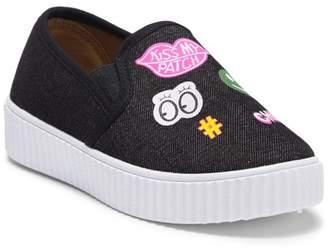 OLIVIA MILLER Patch Slip-On Sneaker (Little Kid & Big Kid)