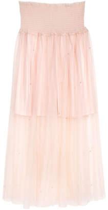 H&M Beaded Tulle Skirt - Orange