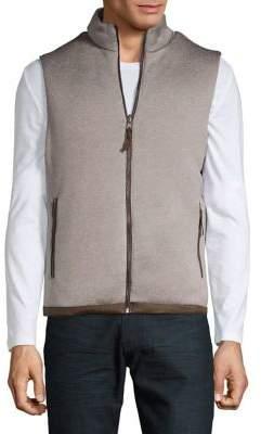 Black & Brown Black Brown Reversible Classic Zip-Up Vest
