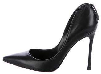Gianvito Rossi Leather Pointed-Toe Pumps