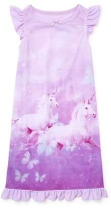 Children's Place The Girl's Unicorn Short Sleeve Nightgown (Big Girl & Little Girl)