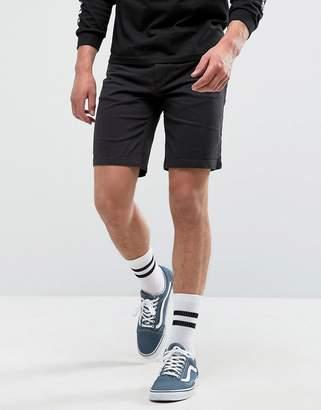 Pull&Bear Denim Shorts In Black