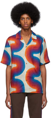 Dries Van Noten Off-White Verner Panton Edition Wave Carlton Bowling Shirt