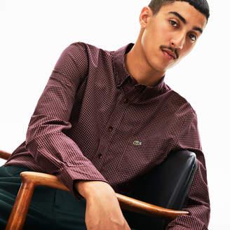 Lacoste Men's Regular Fit Gingham Cotton Poplin Shirt
