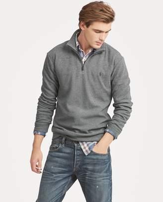 Ralph Lauren Double-Knit Half-Zip Pullover