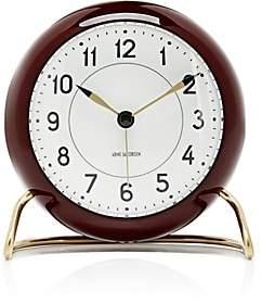 Carl Mertens Station Table Alarm Clock-Burgundy