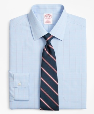 Brooks Brothers Madison Classic-Fit Dress Shirt, Non-Iron Large Overcheck