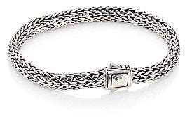 John Hardy Women's Classic Chain Hammered Station Sterling Silver Small Bracelet