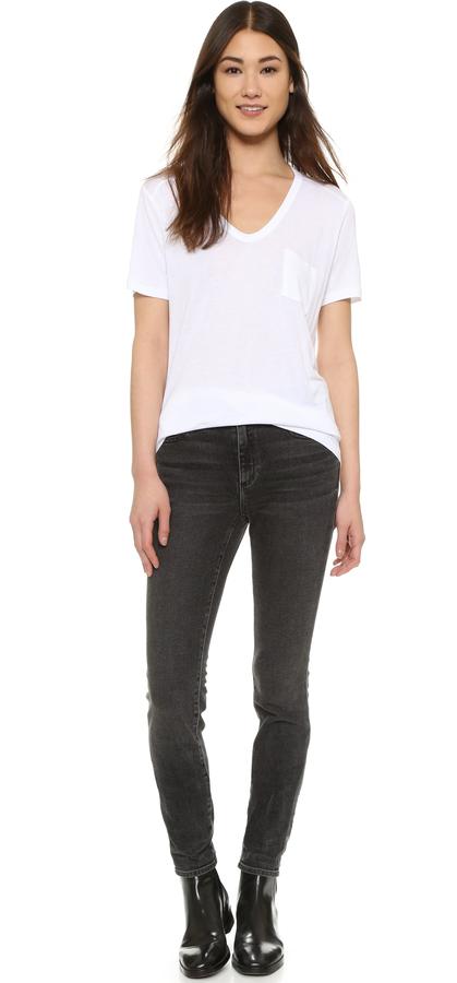 Alexander Wang Classic T Shirt with Pocket