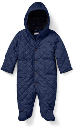 Ralph Lauren Matte Diamond-Quilted Hooded Bunting, Size 3-9 Months