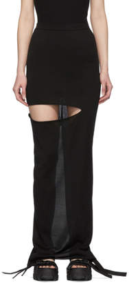 Rick Owens Black Shredded Pillar Skirt