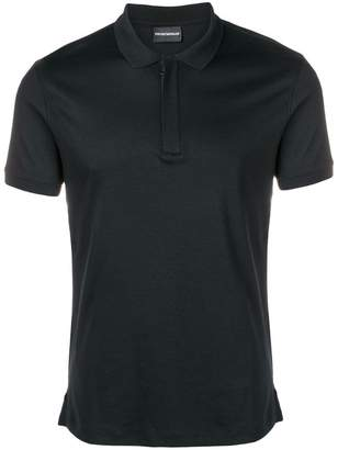 Emporio Armani plain polo shirt