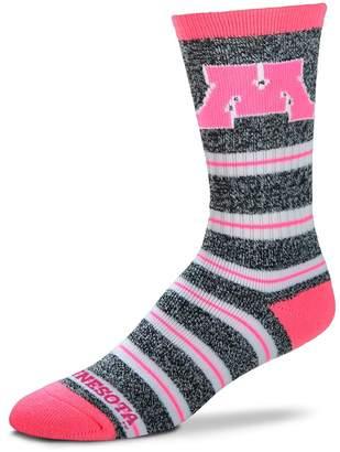 For Bare Feet Women's Minnesota Golden Gophers Striped Crew Socks