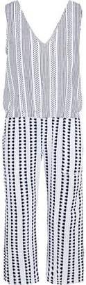 Lemlem Cropped Embroidered Cotton-Blend Gauze Jumpsuit