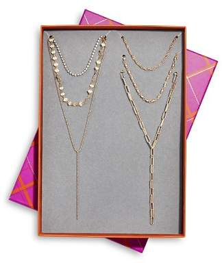"""BaubleBar Layer On Five-Necklace Gift Set, 15.5""""-20"""""""