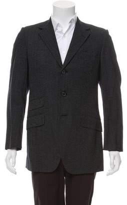 Prada Virgin-Wool Blend Marled Blazer