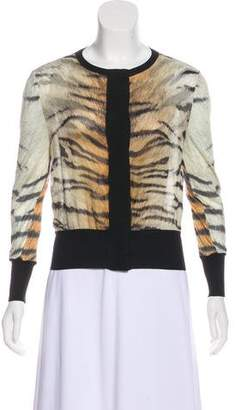 Giambattista Valli Printed Silk Cardigan