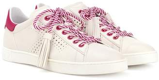 Tod's Tassel-tie leather sneakers