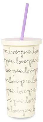 Kate Spade Love Script Tumbler With Straw