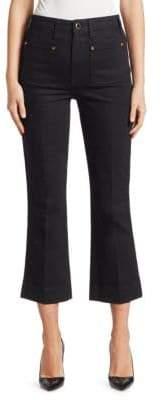 Khaite Raquel Patch Pocket Flare Jeans