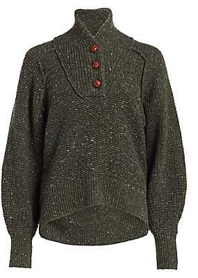 Rag & Bone Women's Klark Donegal Tweed Sweater