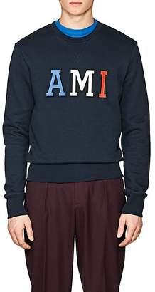 "Ami Alexandre Mattiussi Men's ""AMI"" Cotton French Terry Sweatshirt"