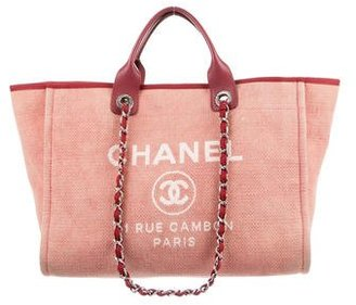 Chanel Large Deauville Tote $2,300 thestylecure.com