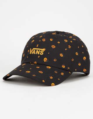 Vans Court Side Printed Black Womens Strapback Hat