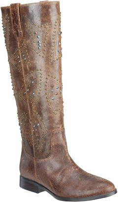 Frye & Co. & co. Distressed Leather Pull-on Tall Shaft Boots - Phoenix